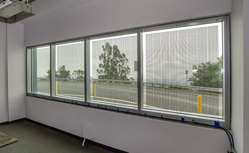 Solaria's Building Integrated Photovoltaic Windows in FLEXLAB's rotating test bed