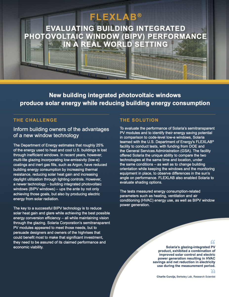 Case Study: Evaluating Building Integrated Photovotaic Window Performance