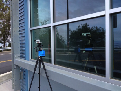 An infrared camera helps determine the area and U-value of the window frame