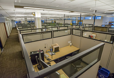 FLEXLAB's Lighting and Plug Load Testbed provides a realistic occupied office environment